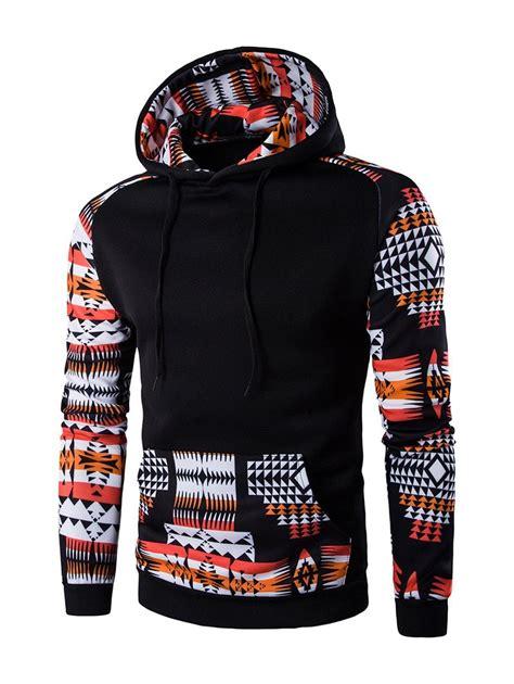 hoodie design printing hoodies black patchwork design geometric print hoodie