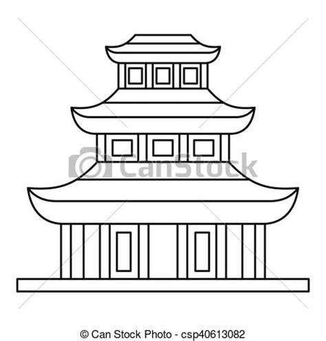 Basic House Plans Free vector of buddhist temple icon outline style buddhist