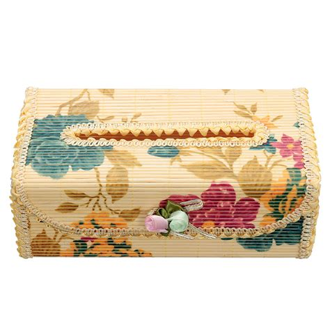 Handmade Tissue Holder - bamboo handmade flower decor tissue box napkin cover