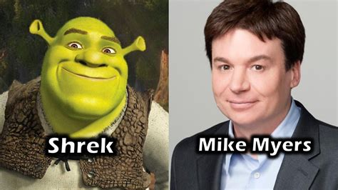 mike myers voice of shrek characters and voice actors shrek youtube