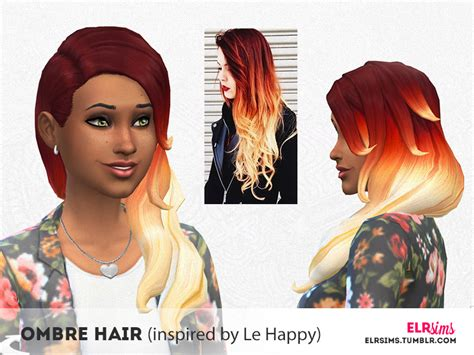 sims 4 ombre hair elrsims elr sims ombre hair inspired by le happy