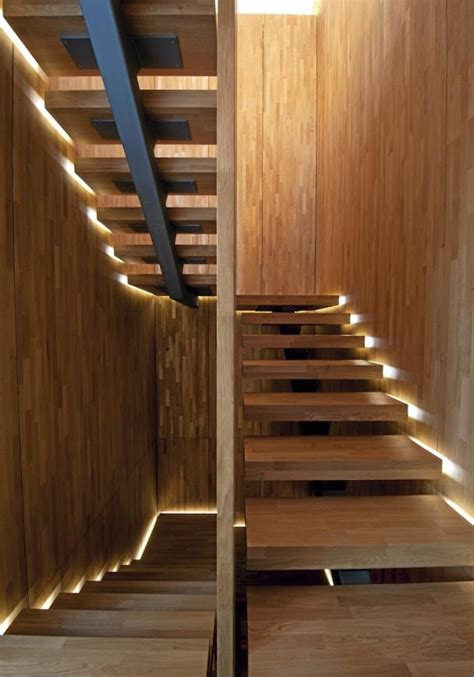 wooden staircase 15 modern staircases with spectacular lighting