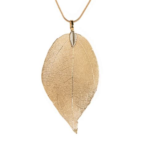 Sweater Leaf by Special Leaves Leaf Sweater Pendant Necklace