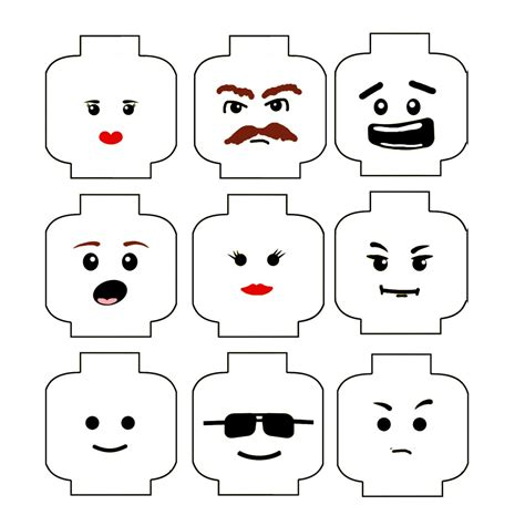 free lego templates 8 best images of lego faces printable lego template