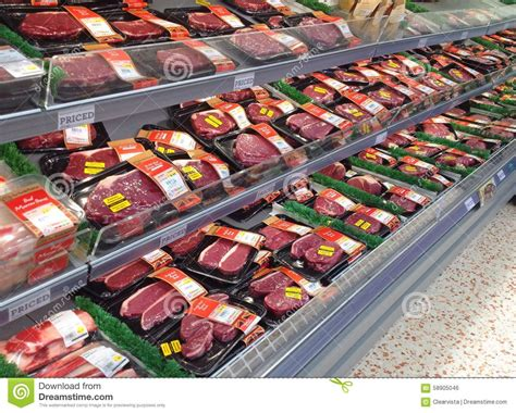 Shelf Steak by Steaks On A Superstore Shelf Editorial Photo Image