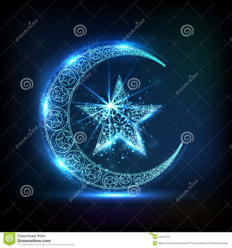 moon and l croissant de lune brillant avec l 233 toile pour la