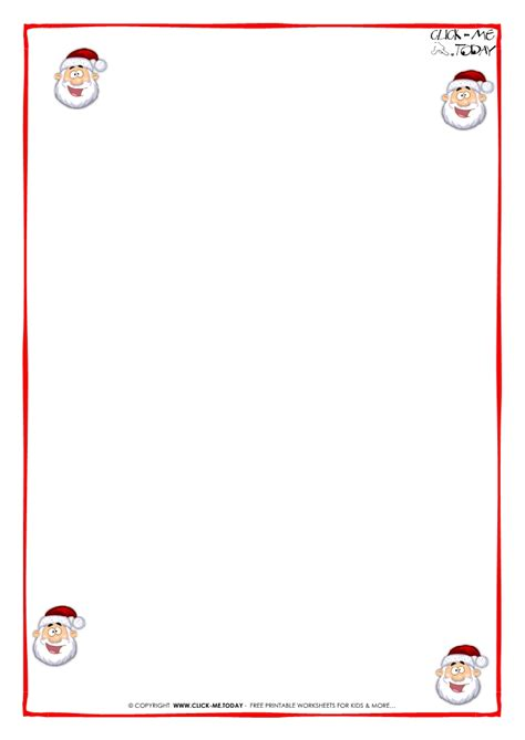 printable letter to santa claus blank paper template santa