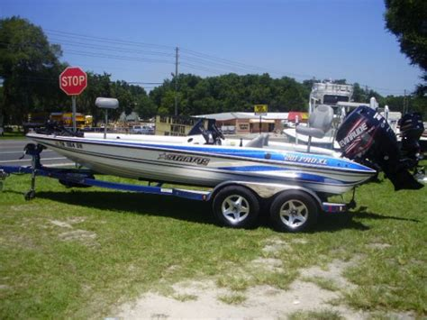 small boat kept on large boat pre owned 2005 stratos 201 pro xl for sale
