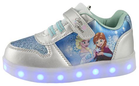 frozen shoes disney frozen led light up trainers usb elsa