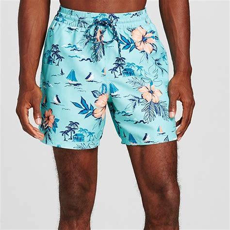 swim trunks s island print swim trunks green merona target