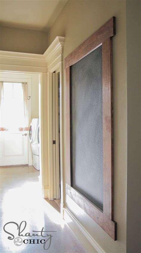 diy chalkboard wall frame 1000 images about organizing house in house on