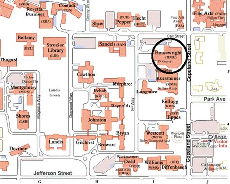 fsu cus map map of fsu cus buildings