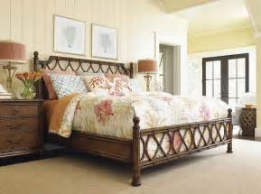 tropical bedroom furniture tommy bahama home bali hai king island breeze rattan bed tropical bedroom other metro by