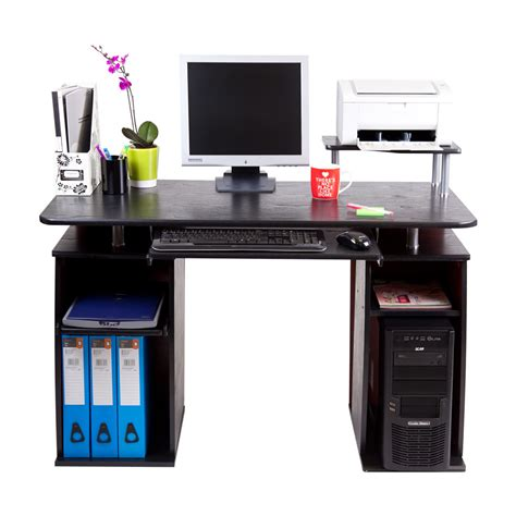 Laptop Desk Station San Jose Black Computer Desk Work Station Pc Table Home Office Study Furniture Ebay