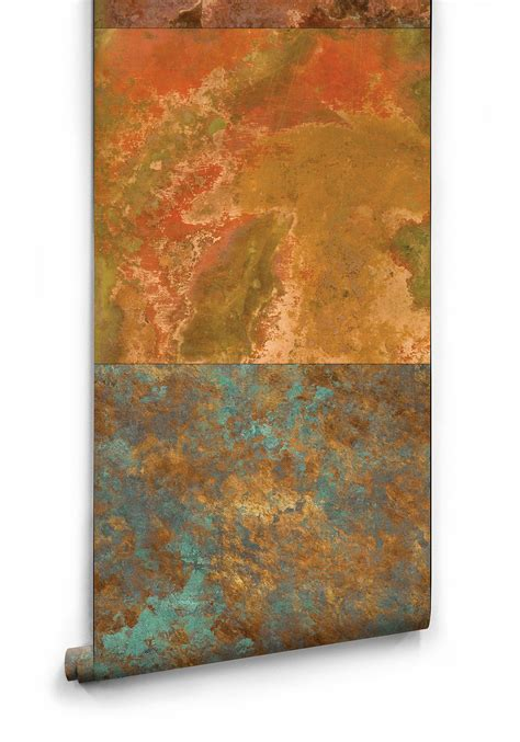 Best Home Interior Design Program Bronze Amp Copper Faux Metal Effect Wallpaper Milton Amp King