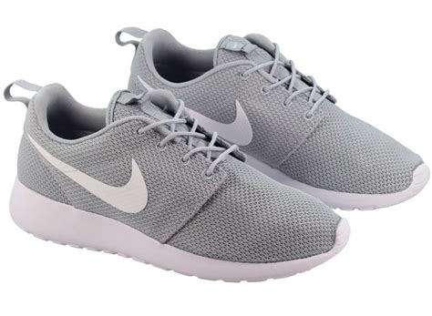 nike shoes mens roshe run wolf grey white with uk next day