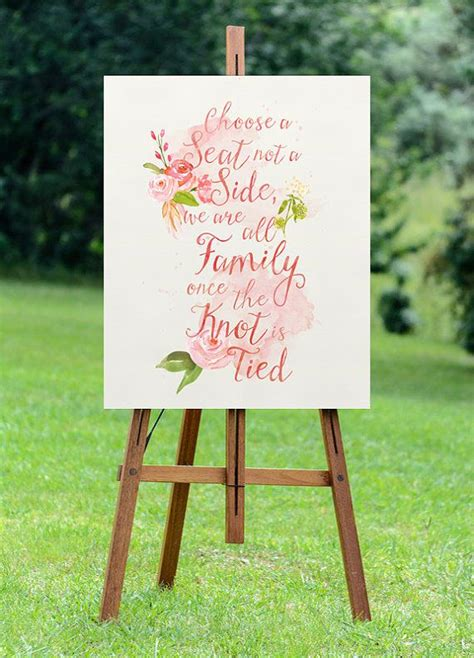 choose a seat not a side wedding sign printable large seating wedding sign choose a seat not