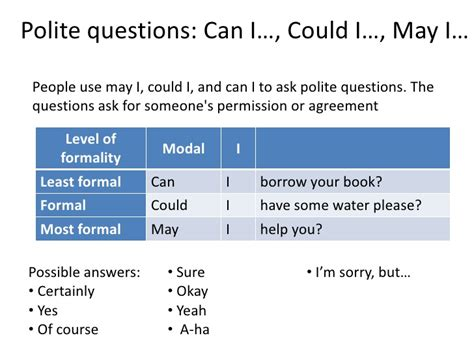 how to ask a to be your polite questions