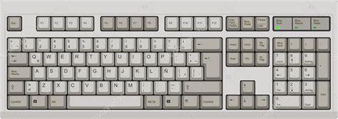 keyboard layout en español teclado qwerty espa 241 ol de la computadora gris archivo