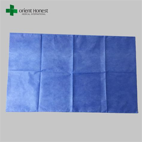 Pp Bedsheet Sprei Chequer Blue best vendor for blue disposable hospital bed sheets elastic nonwoven bed sheet sterile