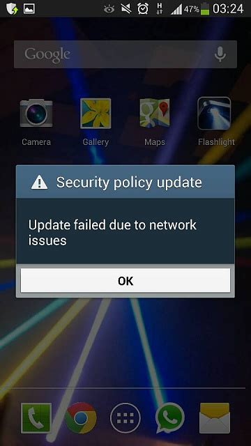 android security policy updates security policy update issue help required android forums at androidcentral