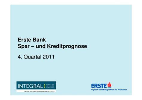 erste bank kredit erste bank spar und kreditprognose j 228 nner 2012