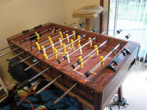 million dollar foosball table vintage foosball table quot tournament soccer quot brown top