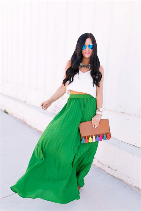 pleated maxi skirt gal about town