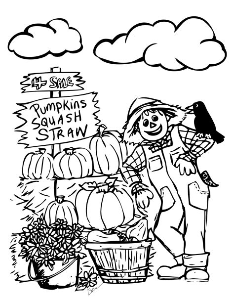 free printable fall coloring pages printable fall coloring page free large images