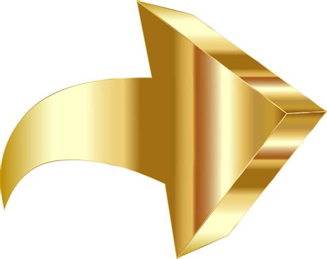 wallpaper 3d png clipart sparkling gold 3d arrow