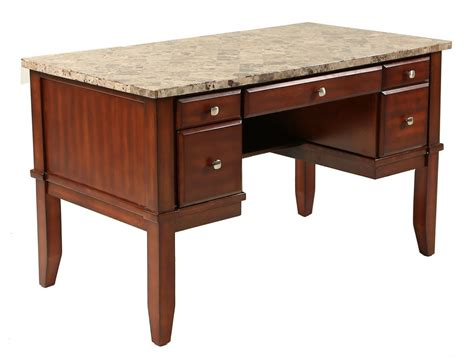 faux marble top desk s furniture home offices