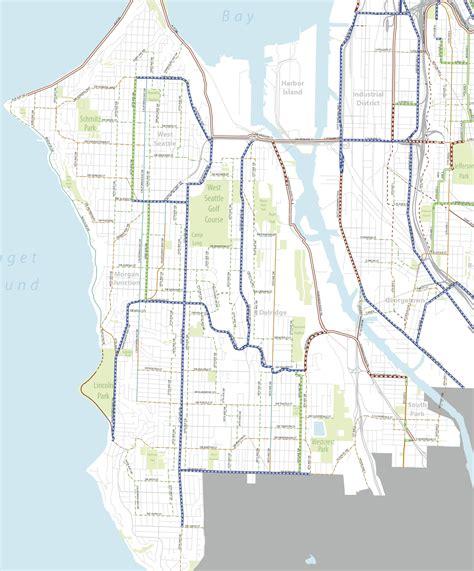 seattle map magnolia bike master plan draft 2 west seattle duwamish valley