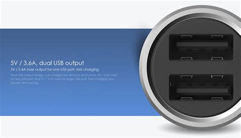 Charger Brand Xiaomi 21a 3output international version xiaomi two ports car charger 5v 3 6a
