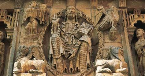 romanesque pilgrimage and spain on pinterest christ in majesty church of san pedro moarves spain