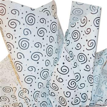 black patterned tissue paper black white swirls patterned tissue paper
