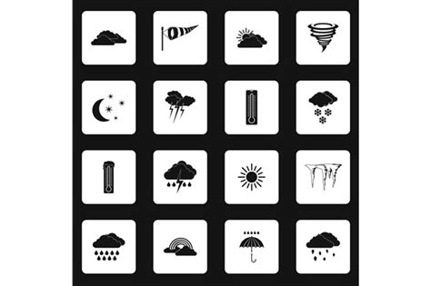 Climate Icons Meaning 187 Designtube Creative Design Content