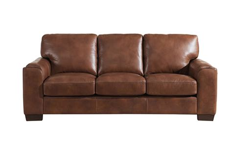 full leather couch suzanne full top grain brown leather sofa