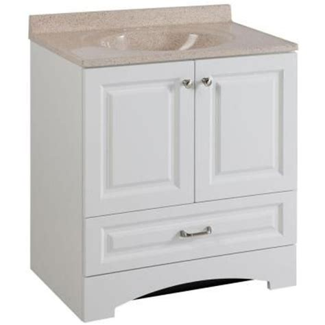 glacier bay lancaster 30 in vanity in white with