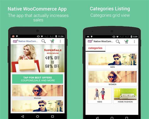 design native app native woocommerce mobile app for android by dasinfomedia