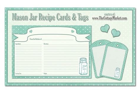 free printable recipe cards gifts jar free printable mason jar recipe cards and tags awesome in