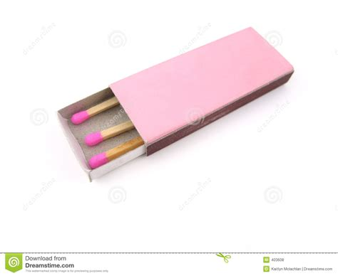pink matches pink wooden matches in matchbox royalty free stock photos