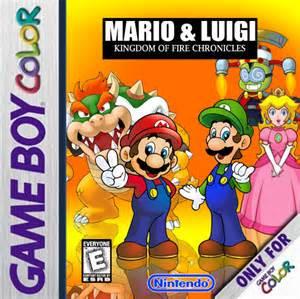 mario amp luigi kingdom fire chronicles game boy color box art cover dimentio64
