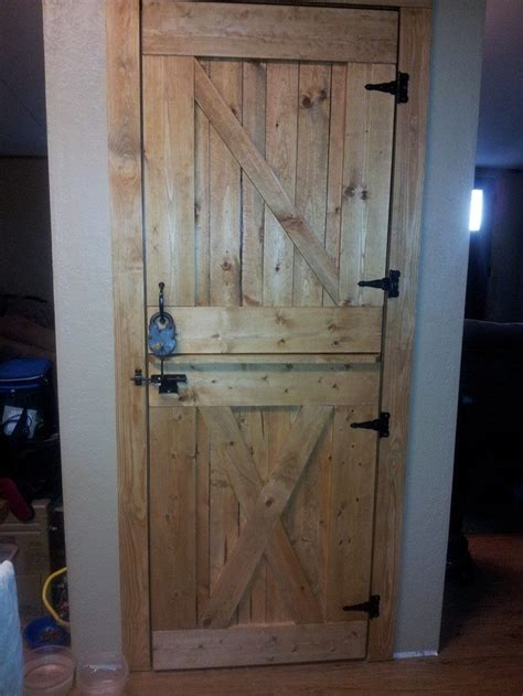 Build Your Own Kitchen Cabinet How To Build A Dutch Barn Door Diy Projects For Everyone