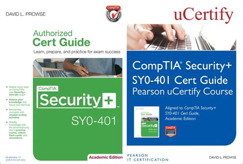 comptia security sy0 501 cert guide academic edition 2nd edition certification guide books comptia security sy0 401 pearson ucertify course and cert