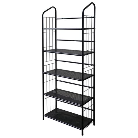 home decorators collection black steel bookcase r597 5