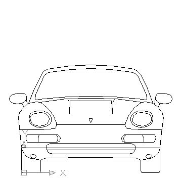 car templates for autocad porsche 1 front view in vehicles cars ceco net free
