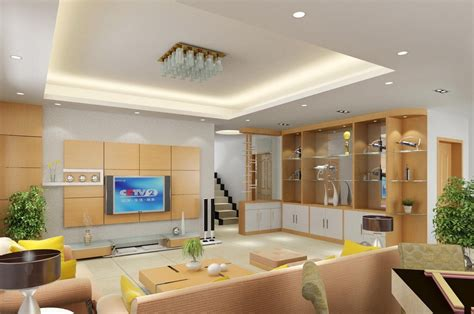 Living Room Wall Cabinet Designs by Wall Cabinet Design For Villa Living Room 3d