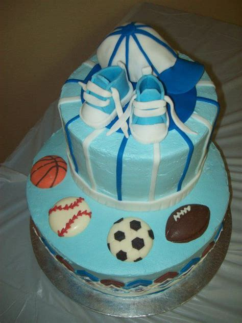 All Sports Baby Shower by Baby Shower Cake All Sports Theme Cake Decorating