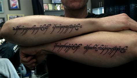 tattoo letters lord of the rings lord of the rings custom lettering tattoo chronic ink