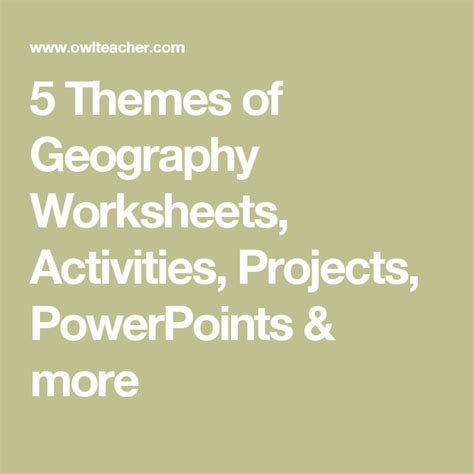 Themes Of Geography Activities | best 25 five themes of geography ideas on pinterest